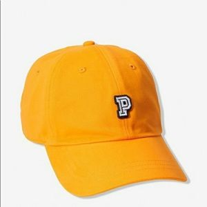 Pink Victoria's secret baseball hat.